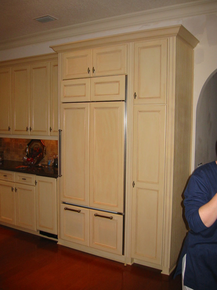 A Refrigerator That Looks Like a Cabinet Source Cabinet Construction Design  & Restoration Services